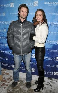Eliza Dushku and Nate Dushku at the premiere of