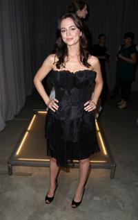 Eliza Dushku at the Marchesa Fall 2008 fashion show during Mercedes-Benz Fashion Week Fall 2008 at Chelsea Art Museum.