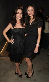 Eliza Dushku and Georgina Chapman at the Marchesa Fall 2008 fashion show during Mercedes-Benz Fashion Week Fall 2008 at Chelsea Art Museum.