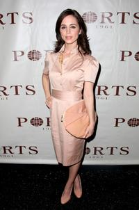 Eliza Dushku at the Ports 1961 2008 fashion show during Mercedes-Benz Fashion Week Fall 2008 at The Promenade at Bryant Park.