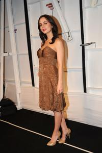 Eliza Dushku at the Badgley Mischka Fall 2008 fashion show during Mercedes-Benz Fashion Week Fall 2008 at The Tent at Bryant Park.