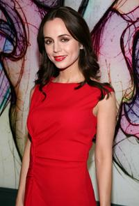 Eliza Dushku at the Prada party at the Prada store Soho location during Mercedes-Benz Fashion Week Fall 2008.