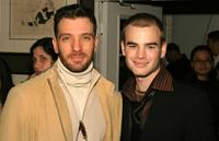 JC Chasez and David Gallagher at the W lounge during the Olympus Fashion week.