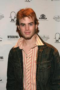 David Gallagher at the grand opening of Ruby Falls with JLO.