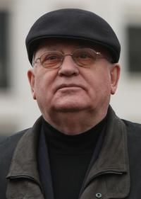 Mikhail Gorbachev at the Genscher And Gorbachev Berlin Visit.
