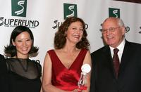 Lucy Liu, Susan Sarandon and Mikhail Gorbachev at the 3rd Annual Women's World Awards.