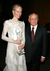 Claudia Schiffer and Mikhail Gorbachev at the 3rd Annual Women's World Awards.
