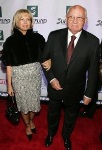 Irina Virganskaya and Mikhail Gorbachev at the 3rd Annual Women's World Awards.
