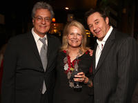 Producer Bill D'Elia, Candice Bergen and Currie Graham at the Boston Legal Wrap party in California.