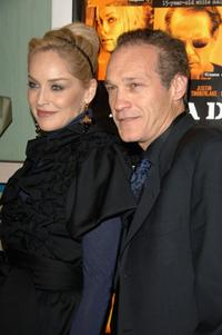 Sharon Stone and Jay Acovone at the Hollywood premiere of