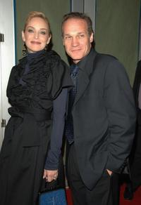 Sharon Stone and Jay Acovone at the premiere of