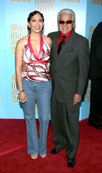 Sheila E. and her father Pete Escovedo at the 2005 World Music Awards.
