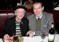 Anne Kaufman Schneider and Richard Easton at the play opening night of