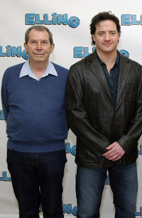 Richard Easton and Brendan Fraser at the Broadway's