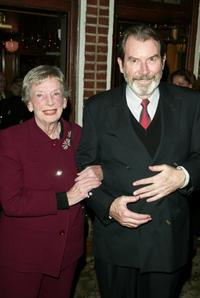 Richard Easton and Anne Kaufman Schneider at the after party of the play opening of
