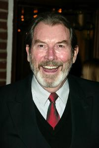 Richard Easton at the after party of the play opening of