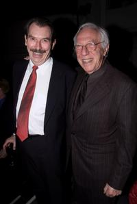 Richard Easton and Producer Bernard Gersten at the opening party for Tom Stoppard's new play