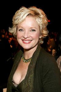 Christine Ebersole at the Olympus Fashion Week in Bryant Park.
