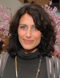 Lisa Edelstein at the opening of the new Badgley Mischka boutique.