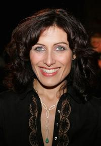 Lisa Edelstein at the Jeffrey Sebelia Presents Cosa Nostra fashion show.