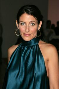 Lisa Edelstein at the Mercedes-Benz Fashion Week Spring 2008.