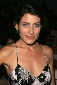 Lisa Edelstein at the Olympus Fashion Week.
