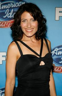 Lisa Edelstein at the taping of Idol Gives Back.