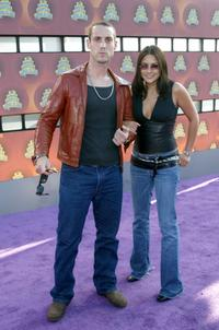 Johnny Strong and guest at the 2002 MTV Movie Awards.