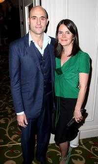 Mark Strong and his guest at the drinks reception prior to the Sony Ericsson Empire Awards 2008.