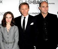 Felicity Jones, Daniel Craig and Mark Strong at the UK premiere of