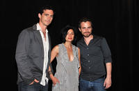 Shiloh Strong, director Alexandra Barreto and Rider Strong at the New York premiere of