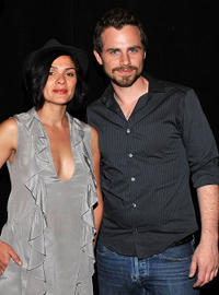 Director Alexandra Barreto and Rider Strong at the New York premiere of