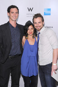 Shiloh Strong, director Alexandra Barreto and Rider Strong at the Tribeca Film Festival Awards in New York.