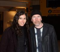 Morleigh and The Edge at the premiere of