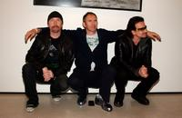 The Edge, Anton Corbijn and Bono at the opening of Anton Corbijn's photo exhibition.