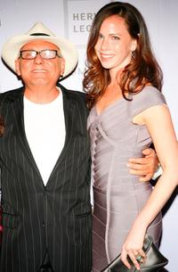 Max Azria and Barbara Bush at the Whitney Contemporaries Art Party.