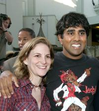 Dana Goldberg and Jay Chandrasekhar at the premiere of