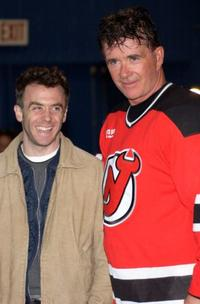David Eigenberg and Alan Thicke at the Heroes in Uniforms Charity Hockey Tournament.
