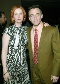 Cynthia Nixon and David Eigenberg at the 14th annual GLAAD Media Awards.