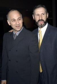 Ned Eisenberg and Richard Topol at the opening of the Lincoln Center Theater presents
