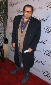 Julian Schnabel at the celebration of Oscar nominee Marion Cotillard.