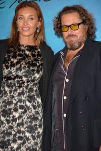 Julian Schnabel and wife Olatz Lopez Garmendia at the premiere of