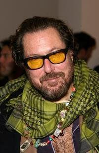 Julian Schnabel at the Gagosian Gallery opening reception.