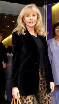 Britt Ekland at the new Bharti Vyas Therapy training centre.