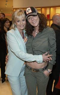 Britt Ekland and Victoria Sellers at the Louis Vuitton Hosts Reception For Divine Design Benefit.
