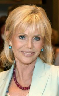 Britt Ekland at the cocktail reception.