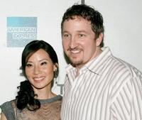 Lucy Liu and Paul Soter at the premiere of