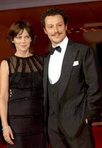 Barbora Bobulova and Stefano Accorsi at the premiere of