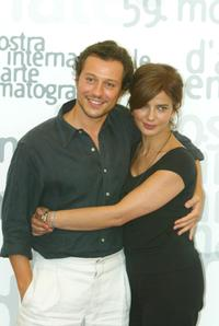 Stefano Accorsi and Laura Morente at the 59th Venice Film Festival.