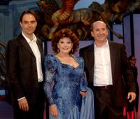 Neri Marcore, Angela Luce and Antonio Albanese at the premiere of